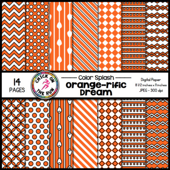 Chevron Digital Paper (Orange)