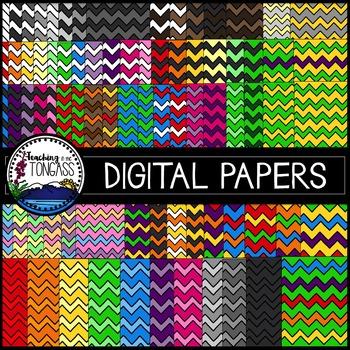 Chevron Digital Paper Clipart Bundle