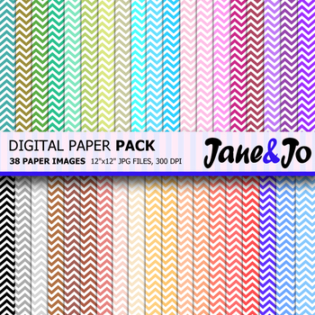 Chevron Digital Paper Chevron background Rainbow chevron pattern Paper Picture
