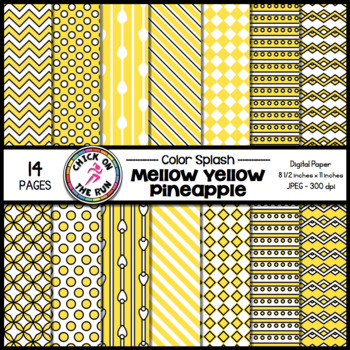 Chevron Digital Paper (Lemon)