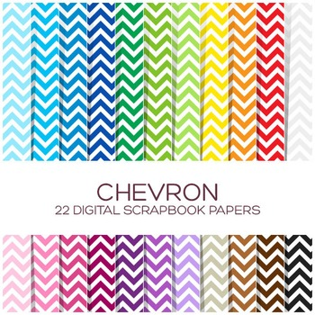 Chevron Digital Paper Pack / 12x12 inches - P00001