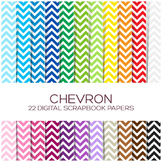 Chevron Digital Paper Pack / 12x12 inches - P00001