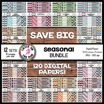 Chevron Digital Paper (Seasonal)