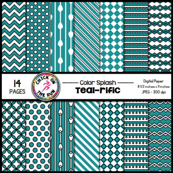 Chevron Digital Paper (Teal)