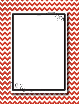 Chevron Digital Paper and Floating Frames Mix and Match Kit