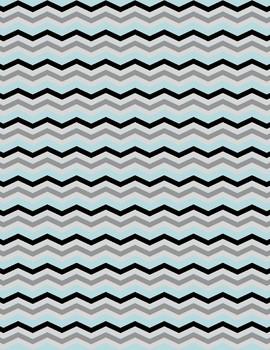 Chevron Digital Papers - 5 Colors