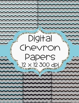 Chevron Digital Papers - 5 Colors