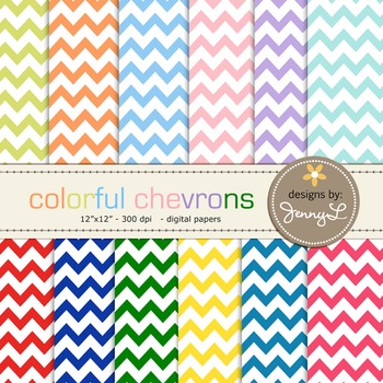 Chevron Digital Papers : Colorful