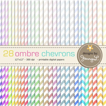 Chevron Digital Papers : Ombre