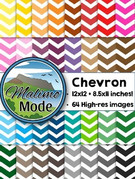 Chevron - Digital Papers Package (12x12 AND 8.5x11 inches)