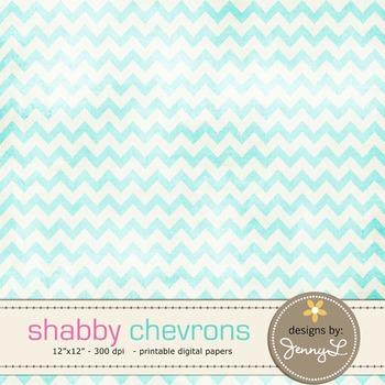 Chevron Digital Papers : Shabby Chevron