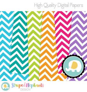 Chevron Digital Papers White Large