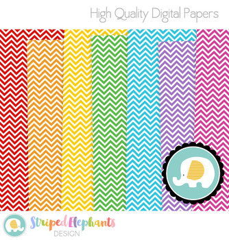 Chevron Digital Papers White Small
