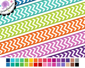 Chevron Digital Ribbon Borders 1
