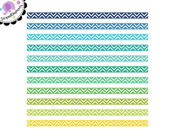 Chevron Digital Ribbon Borders 2
