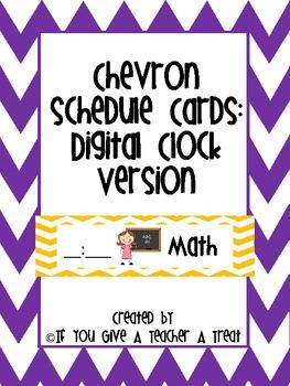 Schedule Cards- Chevron Digital