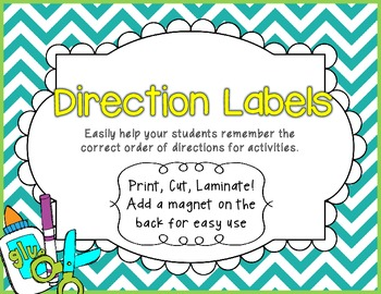 Chevron Direction Cards