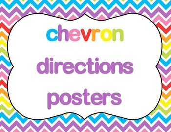 Chevron Directions Posters