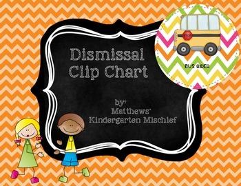 Bright Chevron Dismissal Clip Chart