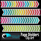 Chevron Page Dividers Clip Art