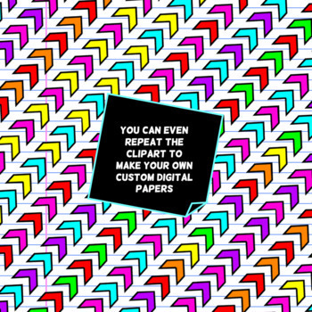 Chevron Dividers - Bright Clipart Set
