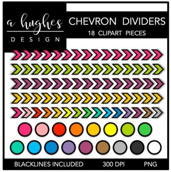 Chevron Dividers Clipart {A Hughes Design}