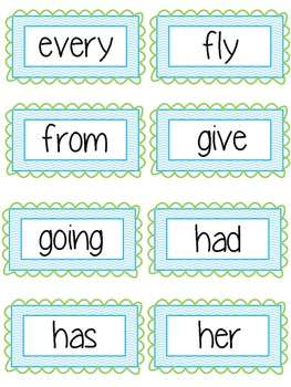 Chevron Dolch Sight Words (1st Grade)