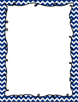 Chevron Doodle Frames- Teacher Binder Printable