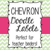 Chevron Doodle Frames- Teacher Binder Printable