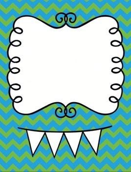 Chevron Doodle Label Pack- Teacher Binder Printable