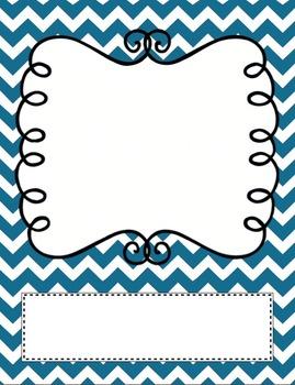 Chevron Doodle Label w/ Rectangle Pack- Teacher Binder Printable