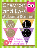 Chevron, Dots and Owls Welcome Banner