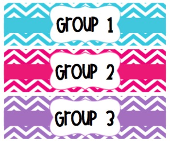 Chevron Drawer Labels {Editable}
