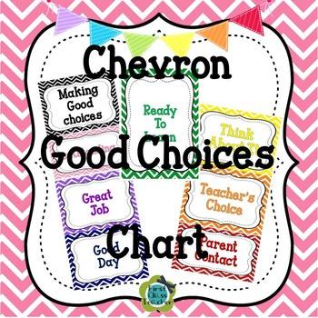 Chevron EDITABLE Behavior Management Clip Chart