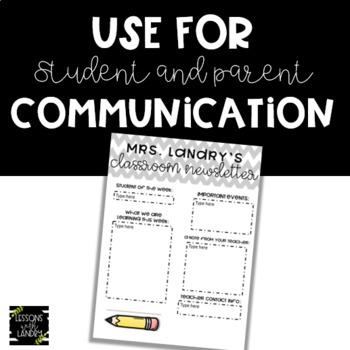 Chevron {EDITABLE} Classroom Newsletter