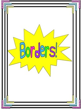 Chevron Edge Page Borders!