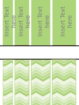 Chevron Editable Binder covers with owl detail