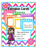 ~Chevron Editable Cards~