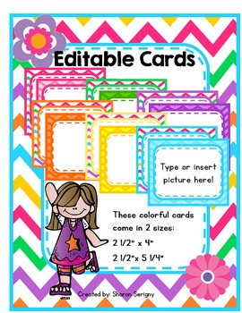 ~Chevron Editable Cards~
