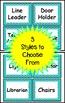 Chevron Editable Classroom Jobs (Turquoise)