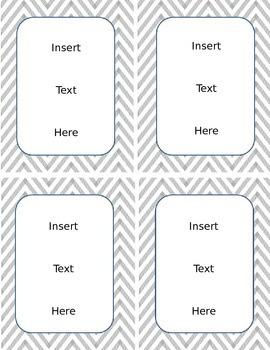 Chevron Editable Classroom Labels