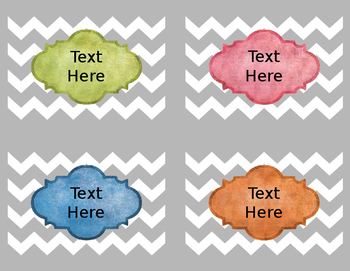 Chevron Editable Labels and Binder Covers