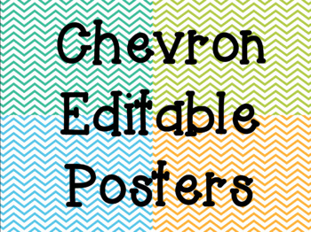 Chevron Editable Posters