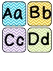 Chevron Editable Sight Word Wall Display with Color Coded Headers and Word Cards