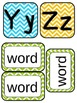 Chevron Editable Sight Word Wall Display with Color Coded