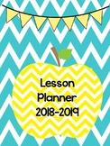 Chevron Editable Teacher Binder/Lesson Planner 2018-2019