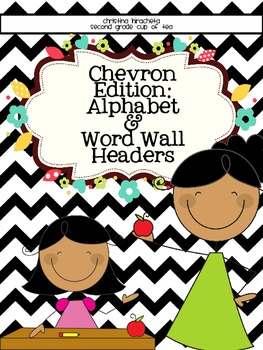 Chevron Edition: Alphabet and Small Word Wall Cards