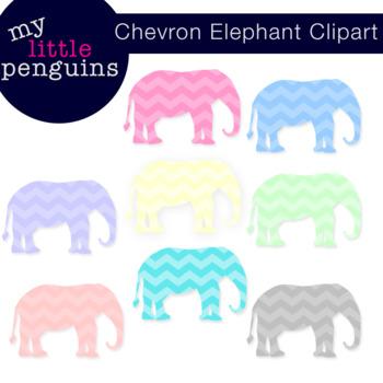 Chevron Elephant Clipart (clip art)