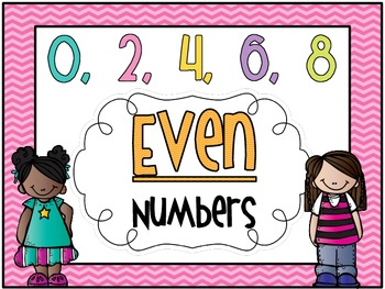 "Chevron ""Even & Odd Numbers"" mini posters sets"