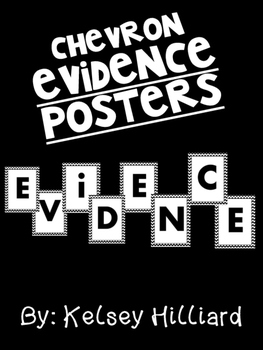 Chevron Evidence Posters for Bulletin Board , classroom decor